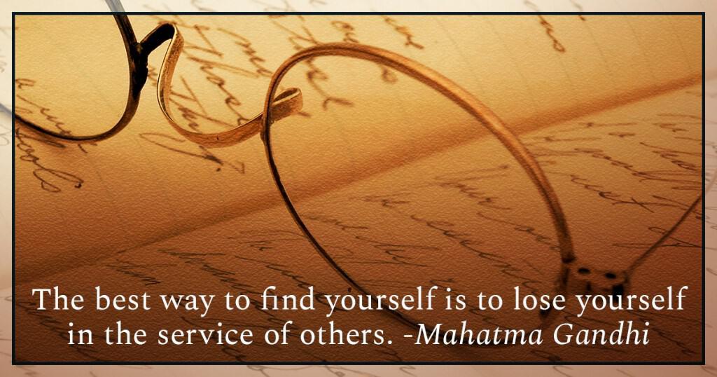 law of abundance gandhi quote