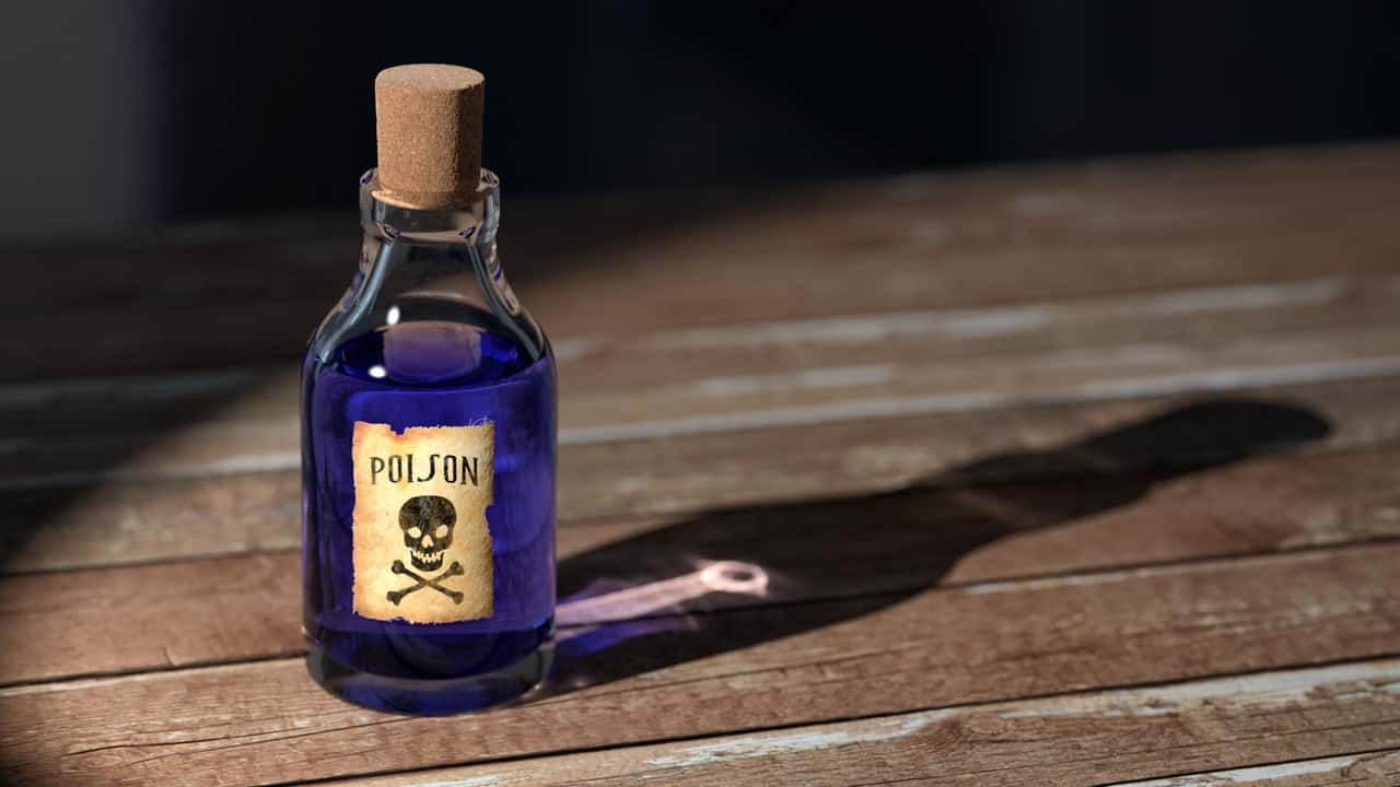 letting go of resentment - poison bottle