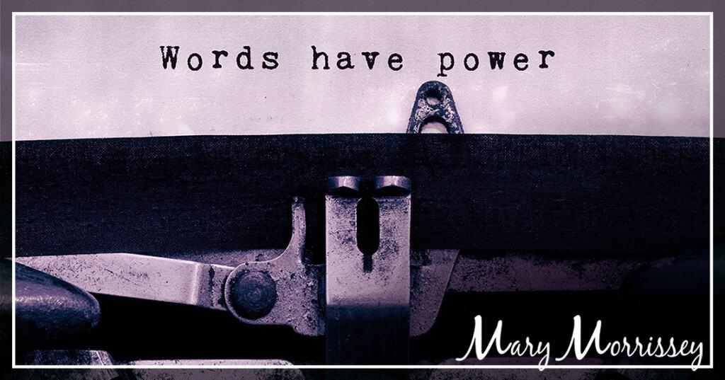 leadership philosophy words have power typewriter