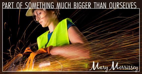 labor day woman welder